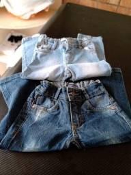 Calça Jeans Infantil Tam. 12 - 2 Pares