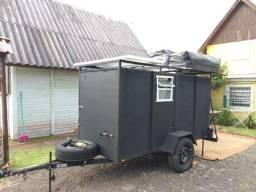 Carretinha baú para camping ou para transportes