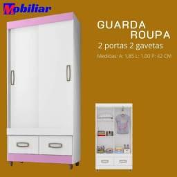 GUARDA ROUPA 2PORTAS DE CORRER 2GAVETAS