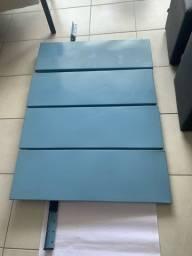Estante aço azul com 4 prateleiras