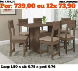 Mesa com 6 Cadeiras compacta - Direto da Fabrica