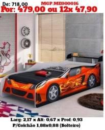 Cama infantil Carros Solteiro - Direto da Fabrica