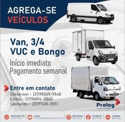 Título do anúncio: AGREGAMOS PARA INÍCIO IMEDIATO VAN, 3/4, VUC, BONGO