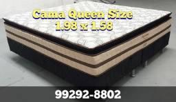 Cama Queen cama Queen cama Queen cama cama cam molas ensacadas