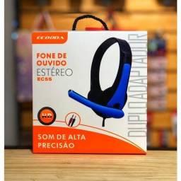 Fone headset estéreo p2xp2 Ecooda ENTREGA GRÁTIS