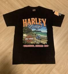 Título do anúncio: Camiseta Orginal Importada Harley Davidson Preta Comemorativa Austrália 2016 - Tamanho P