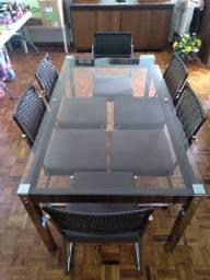 Título do anúncio: Conjunto de Mesa com 06 Cadeiras  Novíssima