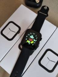 Relógio inteligente iwo t5 faz e atende ligações, novo lacrado