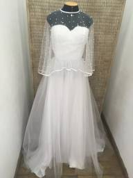 Vestido de noiva NOVO tule francês e tule de pérolas