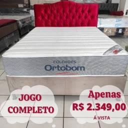 Título do anúncio: Conjunto Cama Box Ortobom Jogo Completo Base +Colchão Novo!!!