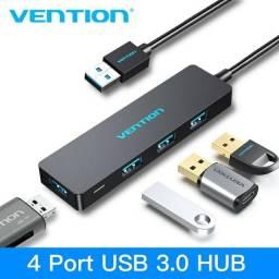 HUB VENTION 4 Portas USB 3.0 Hub Ultra-Slim Data Hub Splitter Super Speed p/ Mac Pro