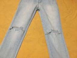 Calça jeans tamanho 36 usada uma única vez!!