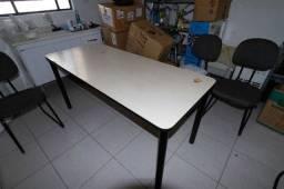 Mesa de Escritório / Escrivaninha (Ler obs) em Madeira Bege 75 cm x  162 cm x  68 cm
