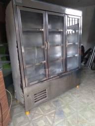 1 Balcão expositor gelado 3 portas