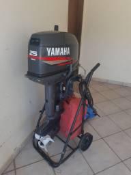Título do anúncio: Motor popa 25 Yamaha 2007