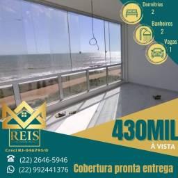 Título do anúncio: RI Cobertura à beira mar à venda, por R$ 430.000 ? Barra de São João ? Casimiro de A/RJ