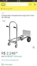 Título do anúncio: carrinho para trasporte