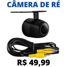 Câmera De Ré Carro Universal Colorida 2em1 Borboleta Embutir