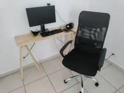 Título do anúncio: Pra vender rapido! Escrivaninha Pinus + Cadeira de Escritório