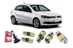 Kit Lâmpadas Led Premium Completo Volkswagen Gol G6