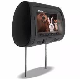 Encosto De Cabeça Standard Monitor E Dvd 7pol Usb Sdcard