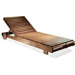 Lançamento Espreguiçadeira p/ piscinas em madeira