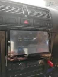Dvd Napoli retrátil GPS cartão SD Aux USB TV bluetooth