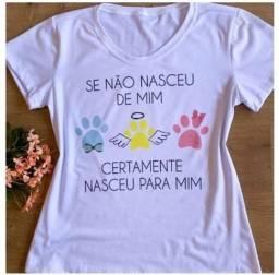 T-shirt. feminina únicas