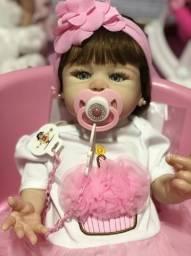 Bebê Reborn hiper realista de silicone parece de verdade