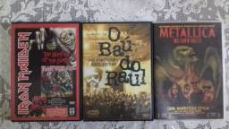 DVDS do Iron Maiden,, Metallica e Baúltima do Raul