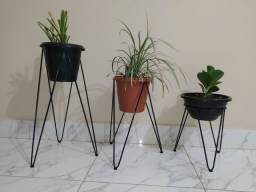 Kit 3 Suporte de ferro  para vaso de plantas