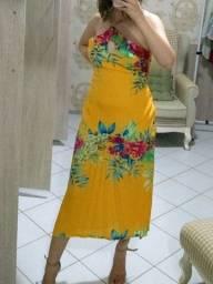 Vestido longuete lindíssimo Tam M
