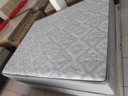 ;; conjunto box + Colchao Monterrey Queen size 158x198 Confira