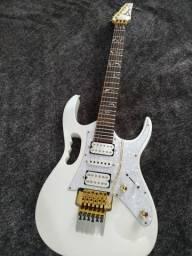 Guitarra Customizada mesmo modelo da Ibanez Jem 7v Wh Com Gotoh E Malagoli