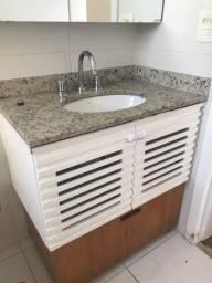 Pia e móvel banheiro com gavetão para roupa suja