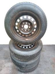 Jogo de 4 rodas de ferro Gol 175/65