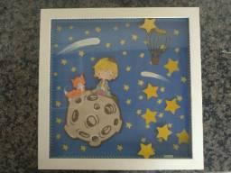 2 (dois) quadros para enfeite quarto de bebê - Pequeno Príncipe