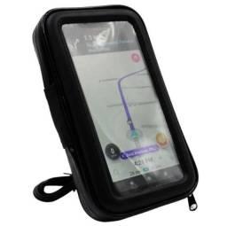 Suporte Celular Tomada 2a Moto Carregador Usb Case 6,5''