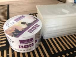 DVDs virgens 10 capas de brinde