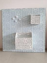 Painel de imã com porta lápis