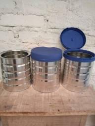 35 latas com tampa. O que oferecem
