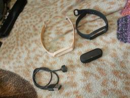 Xiaomi mi Band 5 original + NFC com carregador magnético e película 02 pulseiras