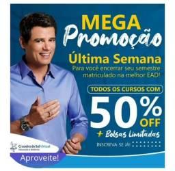 Título do anúncio: Bolsa de 40% à 50% em toda graduação Cruzeiro do Sul. Ligue e ganhe uma bolsa.