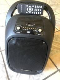 Caixa portatil  com microfone sem fio bluetooth