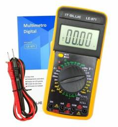 Título do anúncio: Multímetro Digital Profissional C/capacímetro Beep Sonoro