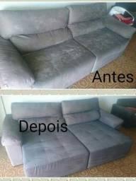 Lavagem a seco de sofa