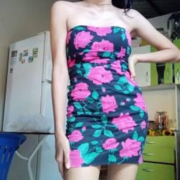 vendo vestido curto florido