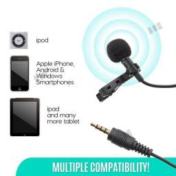 Mikrofon Microfone Mini Jack De 3,5 mm Com Clip-On Lapela Microfone Para