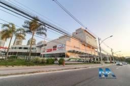 RECREIO SHOPPING - Sala comercial com 78m² salão, terraço e vaga de garagem