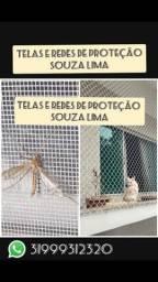 Rede de proteção e tela mosquiteira